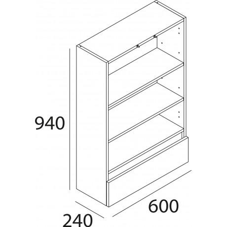 Armario Suspendido Blanco con 2 Puertas y 1 Cajón