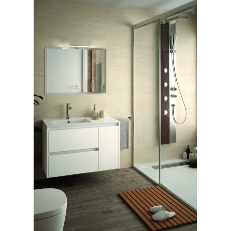 Mueble Flotante Blanco 2 cajones y 1 puerta