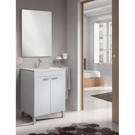 Mueble Lavabo 2 puertas Blanco