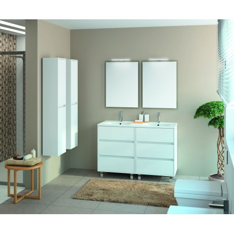 Mueble Blanco con Seis Cajones y Dos Senos