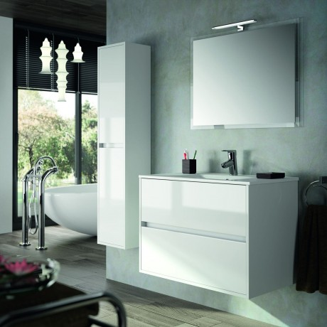 Mueble Blanco Dos Cajones Flotante