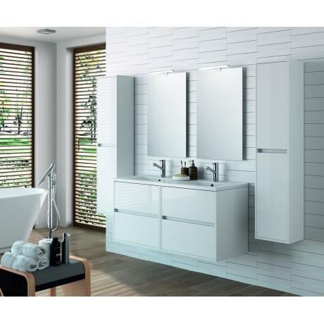 Mueble Flotante Blanco Cuatro Cajones