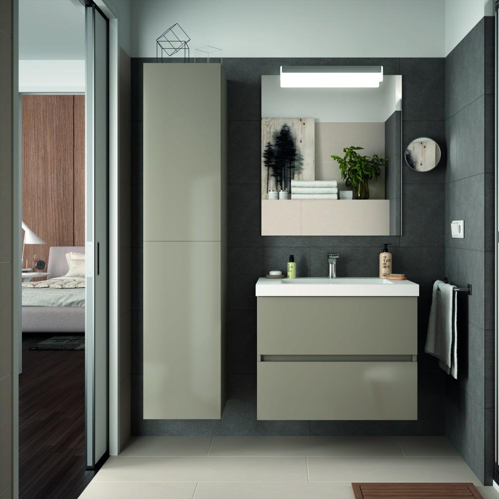 Mueble de ba o suspendido de 70 cm y lavabo muebles de for Muebles de lavabo de 70 cm