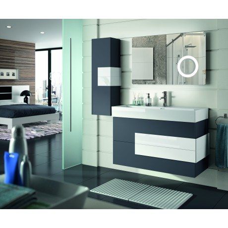 Mueble de baño y lavabo color Roble